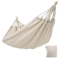 Camp Furniture Double Hammock Outdoor Rollover Prevention Camping Canvas Fabric Hanging Swing Bed For Patio Travel Hiking Drop
