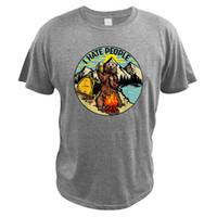 Я ненавижу людей кемпинг медведь футболка ретро пешеходные любовные любители летняя футболка есу размер 100% хлопок мягкие прохладные топы мужчины печатные футболки