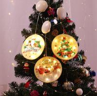 Christmas Decorations s 6 Style Xmas Led Festival Pendant Lights Party Hanging Ornament Wall Decor Lamp Decorative Light GZ74 0SAV