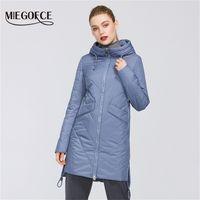 Miegofce Kadınlar Parkas Pamuk Yastıklı Ceket Yeni Bahar Tasarımları Kadın Ceketleri Hood Ile Uzun Sıcak Moda Mont Anne Için Sıcak T200808