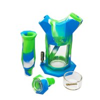 Waxmaid Wholesale all'ingrosso narghilè Gemelli 2-in-1 Kit in silicone Bong Bong Bangler Nectar Collector Smoke Rigs Nave da CA Warehouse