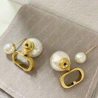 Frauen Ohrringe Schmuck Luxurys Designer Ohrringe Ohrstecker Pearl Ohrringe Mode 925 Sterling Silber des Boucles d'Oreilles Designer 20121701l