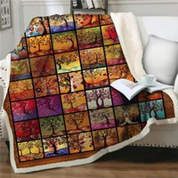 Blankets Throw Blanket Gorgeous Pattern Vintage Bedding Soft Bedspread Sherpa Quilts Cover Travel Easy Wash Home Textile