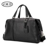 Duffel Bags J.M.D Верхний слой Кожаный повседневная крутая дорожная сумка черная классика Nappa сумочка