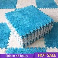 10 Pcs Soft Plush Children's Mat Baby Play Toys Eva Foam Puzzle Carpet In Room Keep Warm Playmat 30*30*1CM 210909