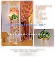 Parti Dekorasyon Uzun Boylu Kat Ayakta Şamdan Candelabras Altın Düğün