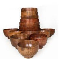 Ciotola di legno Tapanese Zuppa di riso tagliatelle di riso ciotole Bambini Pranzo Box Stoviglie da cucina per baby alimentazione cibo contenitori sn2458