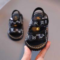 Детские уличные летние сандалии буквы детей детские мальчики и девочки нескользящие малыши туфли тапочки мягкие подошвы для прогулок на 0-1 год G59UOV4