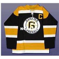 001 CHL Oshawa Generals OHL 2 Bobby Orr Hokey Jersey Siyah Nakış Hokey Jersey veya Özel Herhangi bir isim veya numara Retro Jersey