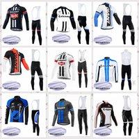 Giant Team Manica Lunga Inverno Fleece Fleece Cycling Jersey Bib Pantaloni Set MTB Outdoor Sportswear caldo E61523