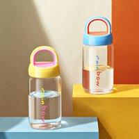 Mini Cute Water Bottle 350ml Fashion Milk Glass Bottle Drinkware Waterbottle Eco-friendly Borosilicate Glass Cup Coffee Mug