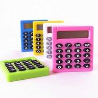 5 Farben Student Digital Electronic Mini-Rechner Outdoor Portable Batterien Taschenrechner Büro Home Digital Calculator Kostenloses Schiff