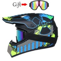 Goggle Gift Racing Off-Road Full Face Scooter Motorcycle Helmet Motocross Riding Dirt Bike DOT Moto Casco Vintage