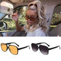 Vengom Retro Übergroße Sonnenbrille Frauen Mode Gradient UV400 Große Sonnenbrille Vintage Brand Designer Lentes de Sol Mujer