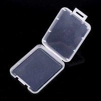 Прозрачный пластиковый CF защита карты защиты карты SD карта хранения мобильного телефона карты памяти малая белая коробка компактная и портативная