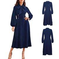 2021 Neues Herbst- und Winterkleid Hepburn Fliege Mittelalterliches Kleid