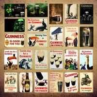 Belle journée pour une peinture Guinness Poster Retro Beer Publicité en métal Panneaux d'étain Pub Bar à la maison Décor Mur Art Plaque Yi-210 Q0723