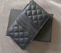 2021 NEW Caviar Mobile phone bag Zipper pocket Wallet Luxury VIP Gift Leather Credit card bag Female designers Name card holder Zero Purse