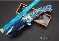 Browning Taurus Kunst Relief Camping Jagd Survival Messer Verschluss EDC-Werkzeuge Outdoor Hohe Härte Gebogene Klinge Faltendes Geschenkmesser Großhandel