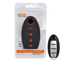 닛산 Altima Maxima Muraano Rogue Cover Versa Titan Cover Keyless Remote FOB 쉘 4 버튼 보호기 용 실리콘 자동차 키 케이스