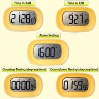 Cuisine numérique chronomètre chronomètre chronomètre réveil gros chiffres gras 12/24 H Time Compte de compte à rebours FWD8705