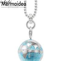 Кулон Ожерелья Ожерелье Глобус Модный подарок Женщины Мужчины DIY Ювелирные Изделия Посеребренные Моды Оптом