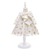 Girls Dresses Children Clothing Kids Clothes 1st Birthday Dress For Baby Girl Princess Wear Big Bow Full Christmas Formal B8523