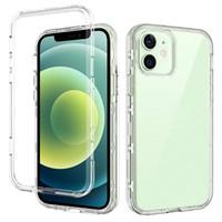 Para iPhone 12 Case Clear 3In1 Casos de teléfono celular Tapa de protección de cuerpo completo Compatible con Samsung S21 Ultra