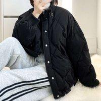 20212020 neues lose design koreanische version des bündel lingge weiß down parkas jacke frauen winter warm kurzer freizeit mantel
