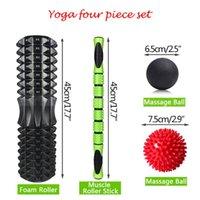 Accessories Yoga Column Massage Stick Combination Set Foam Shaft Fascia Ball Rotating Relaxation Roller Equipment