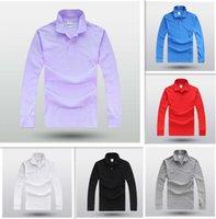 LACOSTE Fransa erkek Casual Polo Gömlek Pamuk Erkek Casual Gömlek Bahar Uzun Kollu Slim Fit Gömlek Erkekler Asya Boyutu M-4XL