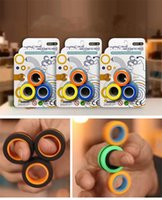 2021Decompressão Anéis Anti-Stress Anéis Magnéticos Para Autismo Adhd Ansiedade Alívio Foco Crianças Decompression Fingertip Brinquedos Magic Ring Adereços