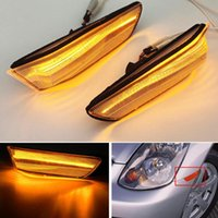 Emergency Lights For Skyline 350GT Infiniti G35 2D Coupe Replace 2002-2007 Flasher Indicator Turn Signal Lamp LED Side Marker Light