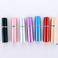 휴대용 병 5ml 알루미늄 양극 처리 된 컴팩트 향수 애프터 셰 이브 분무기 향기 유리 향기 병 스프레이 병 HWE9628