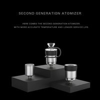 2021 DABCOOL W2 Enail Atomizer Second Generaton Atomizers Water Bongs DABCOOL W2 CARTRIDGE With Cover Carp