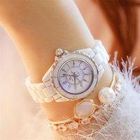 Fashion Nouvelle bande de montre de céramique chaude - Montre-bracelet étanche Top Marque Luxe Medies Watch Women Quartz Vintage Femmes Montres 210310