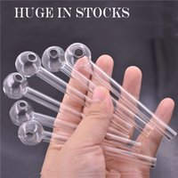 Ultra-cheap Thick Pyrex Glass Oil Burner Pipe Clear top quality smoking pipes transparent Great Tube oil Nail pipes for water bong dhl free