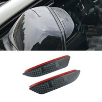 For BMW X3 2003-2021 E83 F25 G01 Car Stickers Side Rearview Mirror Rain Eyebrow Visor ABS Carbon Fiber Sun Shade Snow Guard Shield