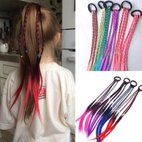 Hair Accessories Girl Summer Bohemian Band Wig Color Gradient Braid Children's Ring Weaving Simulation Twist Rope