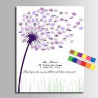 Hochzeit Gästebuch Fingerabdruck Malerei Kommunion Babyparty-Party Hochzeit Geschenke für Gäste Baby Dusche Leinwand Malerei Poster