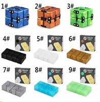 2021 Newest TIKTOK Infinity Magic Cube fidget toys Creative Sky Antistress Office Flip Cubic Puzzle Mini Blocks Decompression Toy GWA6304