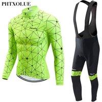 Гоночные наборы Phtxolue мужчины зимний термический флис велосипед одежда велосипед набор Джерси набор велосипедных майки MTB WARE1