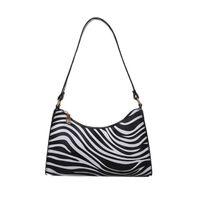 Fashionable Underarm Bag Pu Leather Square Printing Large Capacity Shoulder Female Zipper Versatile Handbag Dog Car Seat Covers