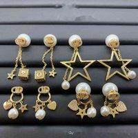D Главная / Dijia New Pearl Inlaid Diamond Star Love Серьги Женский темперамент Net Красные Серьги S925 Серебряные Серьги