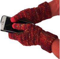 Weihnachtsgeschenke CC Strick-Touch-Bildschirmhandschuh kapazitive Frauen Winter Warme Wollhandschuhe Rutschfeste Stricktelefone im Freien Komfortabel