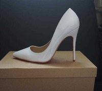 Chaussures Femmes Chaussures Red Fonds High Talons Sexy Toe pointue Sole rouge 8cm 10cm 12cm Les pompes sont équipées de chaussures de mariage sacs à poussière