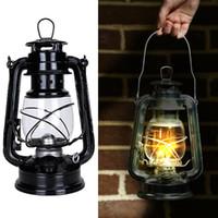 Hohe qualität Eisen Vintage Kerosinlampe Laterne Camping Tragbare Lampe Mashead Light Bekannte Marke Retro Ölschmuck