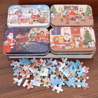 Party Favor 60 Pieces Wooden Puzzle Toys For Children Cartoon Animal Vehicle Wood Jigsaw Baby Educational Toy Kids Christmas Gift