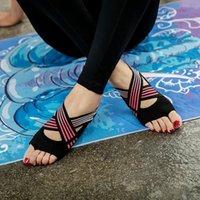 Bandes de résistance Chaussures de yoga Air Femme Solle Sole Sole Pilates Cinq doigts Finger Chaussettes
