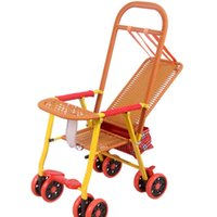 Cochecitos # est cochecito liviano silla plegable de ratán bambú para dormir carro